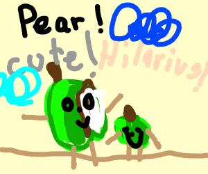 Festive pear