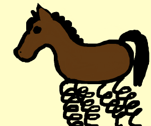 Horse with springs instead of hooves