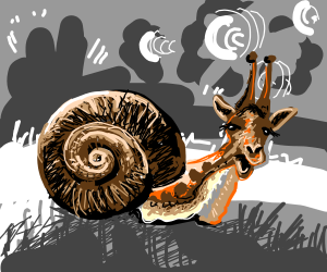 Giraffe/snail man