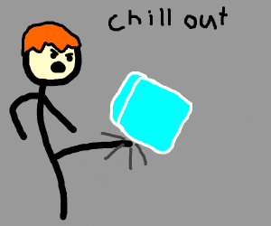 """Ginger kicking ice while saying """"Chill out"""""""