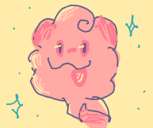 A flying cotton candy pokemon?