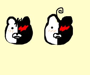 "2 ""Monokuma"" Bears"