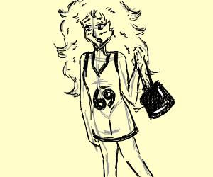 Girl with basketball shirt