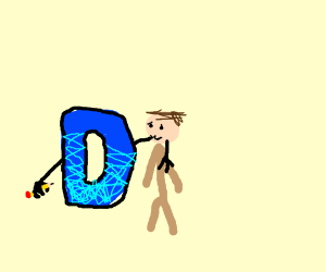 D Welcomes a New Player to Drawception.