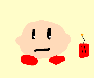 kirby exploding