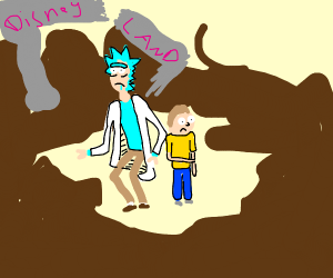Rick and Morty accidentally destroy disneylan