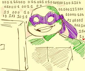Turtle tiping binary code