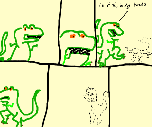 Google T-Rex in existential crisis