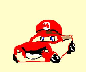 Lightning McQueen as Mario Bros character