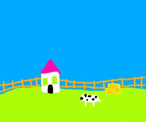 house on a farm- farmhouse
