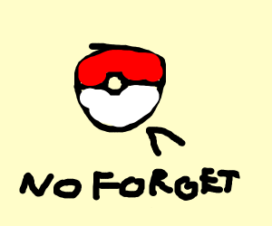 pokeball tells you to never forget