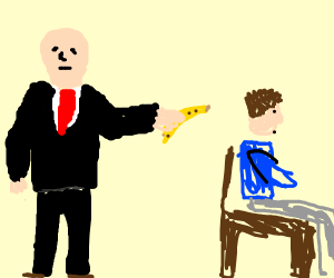 Hitman uses a banana gun