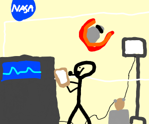 NASA running trhu potato electricity