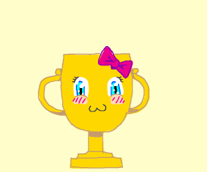 Adorable gold trophy