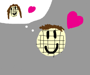 Waffle in love