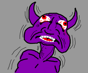 purple demon in existential crisis