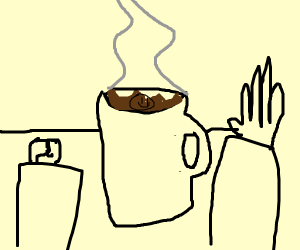 Barista drew in your coffee