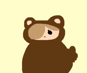 girl in a bear costume