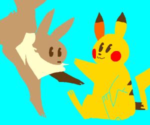 Eevee and Pikachu