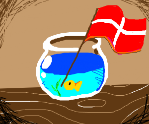 Fish raising a red flag in bed