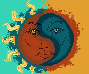 sun/moon yin yang