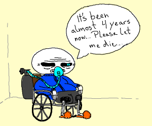 Sans wants to be euthanized