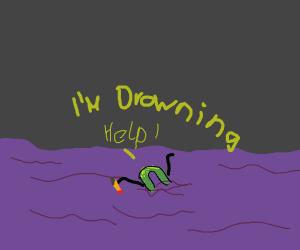drawception logo bleeding and drowning