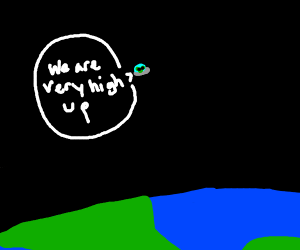 Alien getting high