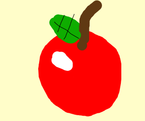 Detailed apple with highlights