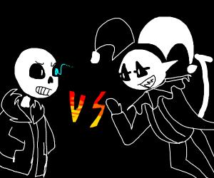 Jester vs. Skeleton
