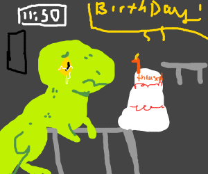 No one showed up to dinosaurs b-day