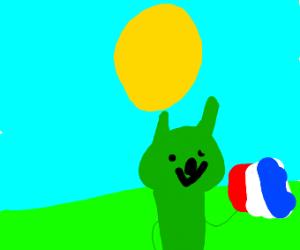 Green French dog