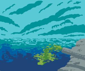 Raw sewage spews into ocean