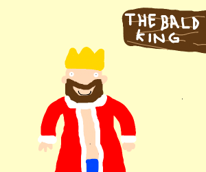 the bald king