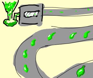 Converter belt/machine that makes limes