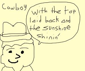 i wanna be a cowboy baaaby