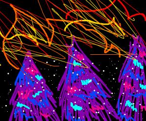 burning galaxy forest