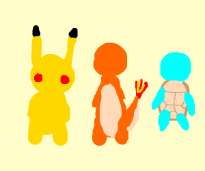 pokémon, but the characters don't have faces