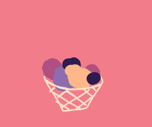 A basket filled with studf