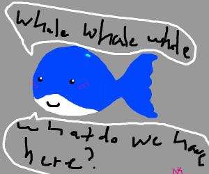Whale makes dad puns