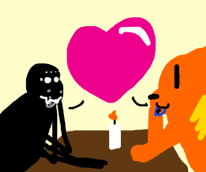 Cat and Spider have a date