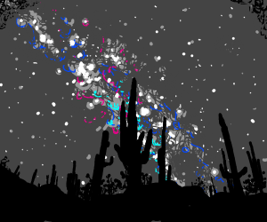 Nightfall in the desert