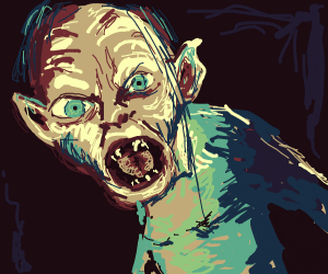 Gollum, and no, it's not a golem