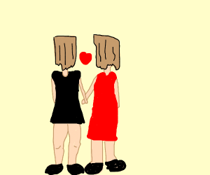 couple with paper bags for heads