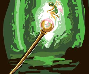 Possessed magical sceptre