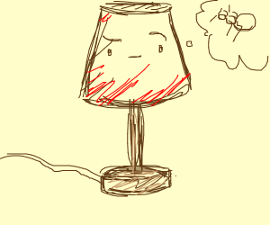 lamp thinking about ants