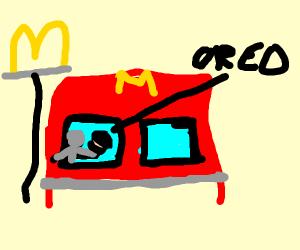 Man eats Oreo at mcdonalds