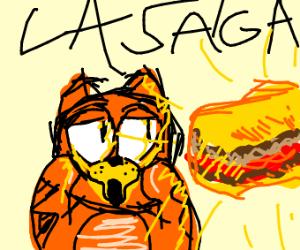 Garfield has found the best Lasagna