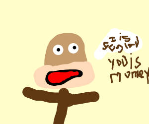 greedy monkey wants all the bananas