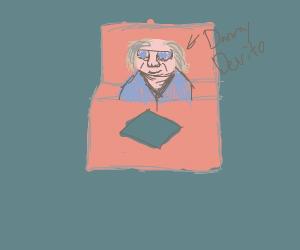 Danny Devito in a magician's box